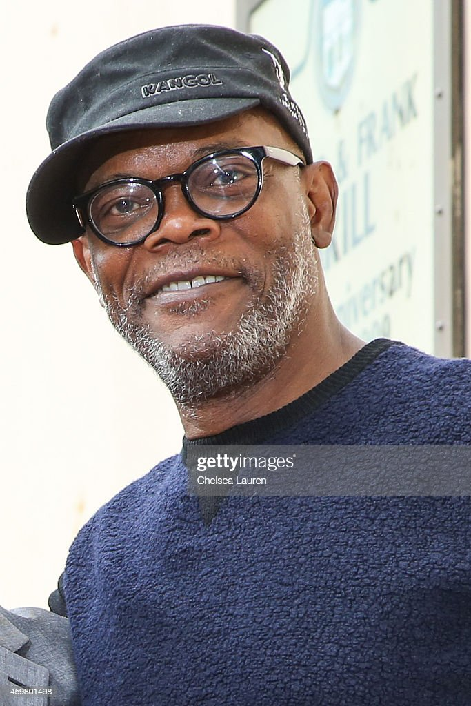 Actor <a gi-track='captionPersonalityLinkClicked' href=/galleries/search?phrase=Samuel+L.+Jackson&family=editorial&specificpeople=167234 ng-click='$event.stopPropagation()'>Samuel L. Jackson</a> attends the ceremony honoring Christoph Waltz with a star on the Hollywood Walk of Fame on December 1, 2014 in Hollywood, California.