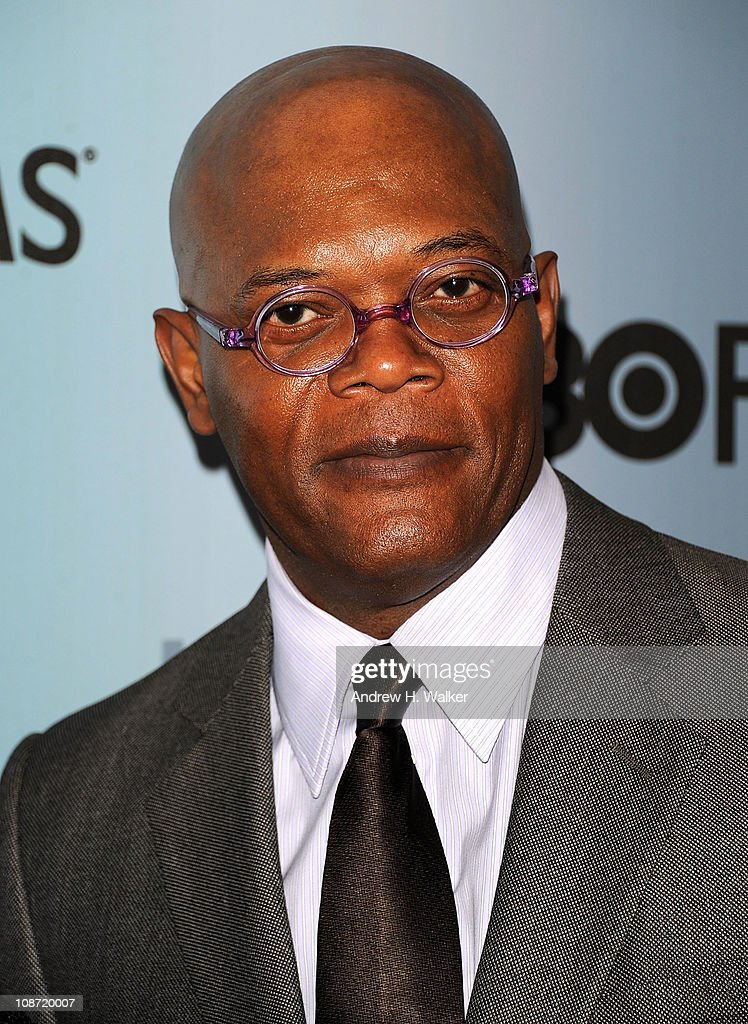 Actor Samuel L. Jackson attends the HBO Films & The Cinema Society screening of 'Sunset Limited' at the Time Warner Screening Room on February 1, 2011 in New York City.