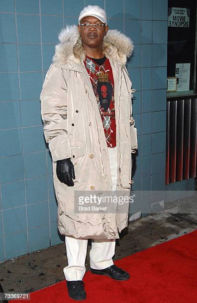 Actor Samuel L Jackson attends the premiere of Black Snake Moan at Chelsea West Cinemas February 19 2007 in New York City