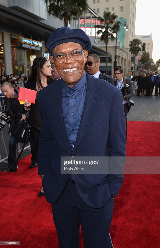 Actor <a gi-track='captionPersonalityLinkClicked' href=/galleries/search?phrase=Samuel+L.+Jackson&family=editorial&specificpeople=167234 ng-click='$event.stopPropagation()'>Samuel L. Jackson</a> attends the premiere of Marvel's 'Captain America: The Winter Soldier' at the El Capitan Theatre on March 13, 2014 in Hollywood, California.