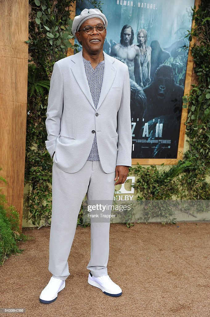 Actor Samuel L. Jackson attends the premiere of Warner Bros. Pictures' 'The Legend Of Tarzan' held at the Dolby Theater on June 27, 2016 in Hollywood, California.