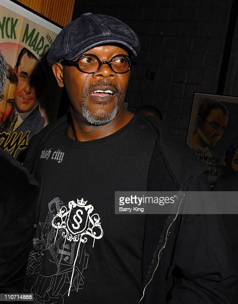 Actor Samuel L Jackson attends the 'Resurrecting the Champ' after party held at the Academy of Motion Picture Arts and Sciences on August 22 2007 in...