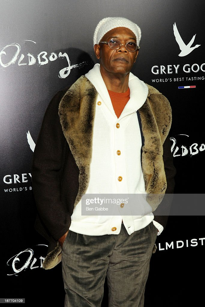 Actor <a gi-track='captionPersonalityLinkClicked' href=/galleries/search?phrase=Samuel+L.+Jackson&family=editorial&specificpeople=167234 ng-click='$event.stopPropagation()'>Samuel L. Jackson</a> attends the screening of 'Oldboy' hosted by FilmDistrict and Complex Media with the Cinema Society and Grey Goose at AMC Lincoln Square Theater on November 11, 2013 in New York City.