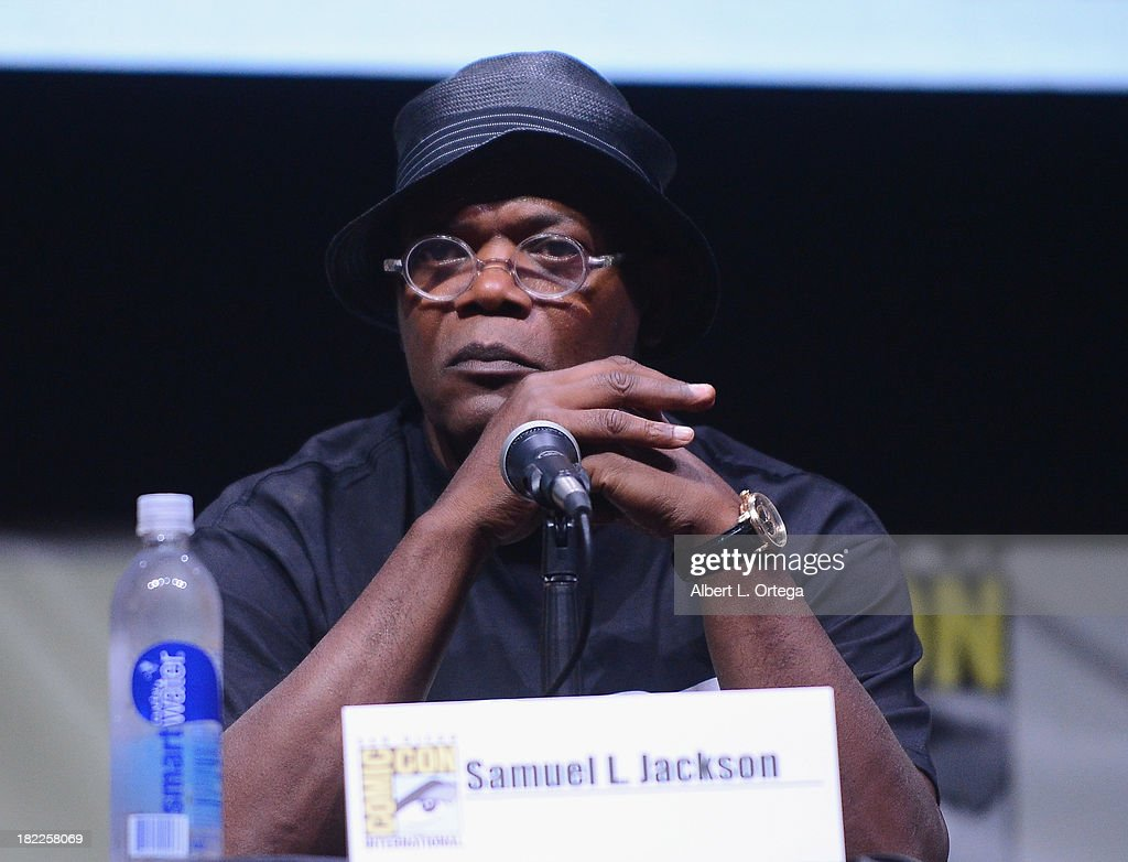 Actor Samuel L. Jackson attends The Sony and Screen Gems Panell featuring Robocop as part of Comic-Con International 2013 held at San Diego Convention Center on Friday July 19, 2012 in San Diego, California.