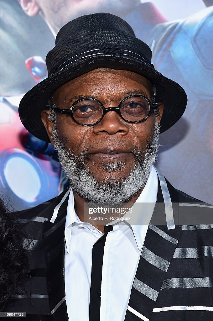 Actor <a gi-track='captionPersonalityLinkClicked' href=/galleries/search?phrase=Samuel+L.+Jackson&family=editorial&specificpeople=167234 ng-click='$event.stopPropagation()'>Samuel L. Jackson</a> attends the world premiere of Marvel's 'Avengers: Age Of Ultron' at the Dolby Theatre on April 13, 2015 in Hollywood, California.