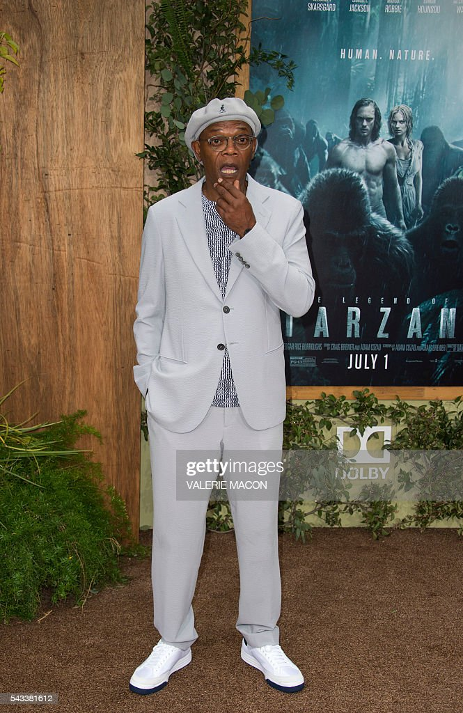 Actor Samuel L. Jackson attends the world premiere of 'The Legend of Tarzan' in Hollywood, California, on June 27, 2016. / AFP / VALERIE