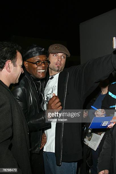 Actor Samuel L Jackson comes to the screenings of 'Resurrecting the Champ' and 'Black Snake Moan' on December 6 2007 at the Aero Theatre in Santa...