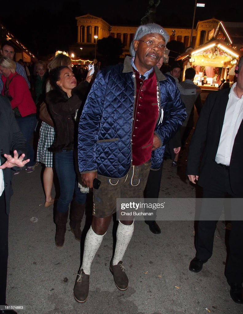 Actor <a gi-track='captionPersonalityLinkClicked' href=/galleries/search?phrase=Samuel+L.+Jackson&family=editorial&specificpeople=167234 ng-click='$event.stopPropagation()'>Samuel L. Jackson</a> sighting at Theresienwiese on September 22, 2013 in Munich, Germany.