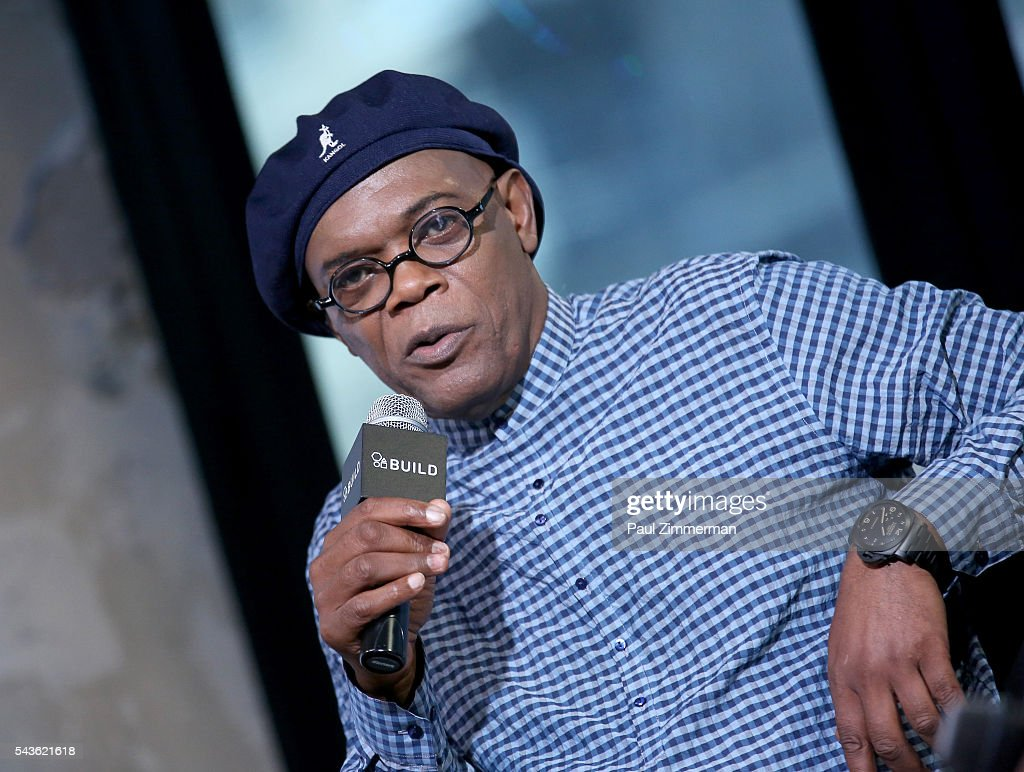 Actor <a gi-track='captionPersonalityLinkClicked' href=/galleries/search?phrase=Samuel+L.+Jackson&family=editorial&specificpeople=167234 ng-click='$event.stopPropagation()'>Samuel L. Jackson</a> speaks at AOL Build Presents - <a gi-track='captionPersonalityLinkClicked' href=/galleries/search?phrase=Samuel+L.+Jackson&family=editorial&specificpeople=167234 ng-click='$event.stopPropagation()'>Samuel L. Jackson</a> From The New Movie 'The Legend Of Tarzan' at AOL Studios In New York on June 29, 2016 in New York City.