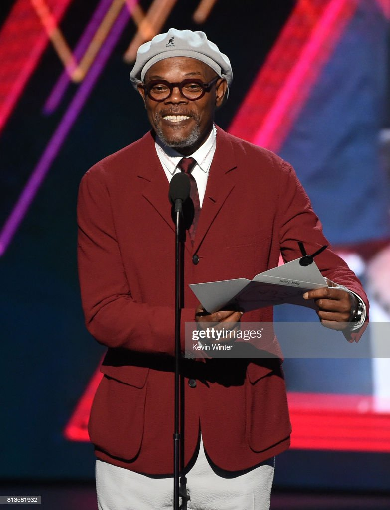 Actor Samuel L. Jackson speaks onstage at The 2017 ESPYS at Microsoft Theater on July 12, 2017 in Los Angeles, California.