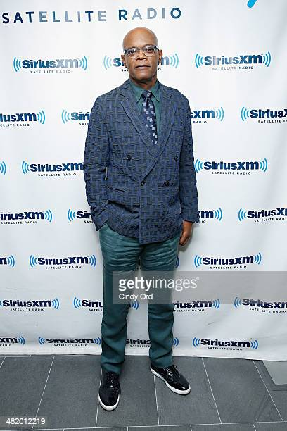 Actor Samuel L Jackson takes part in a SiriusXM 'Town Hall' special with host Matt Bean Editor of Entertainment Weekly on SiriusXM's Entertainment...