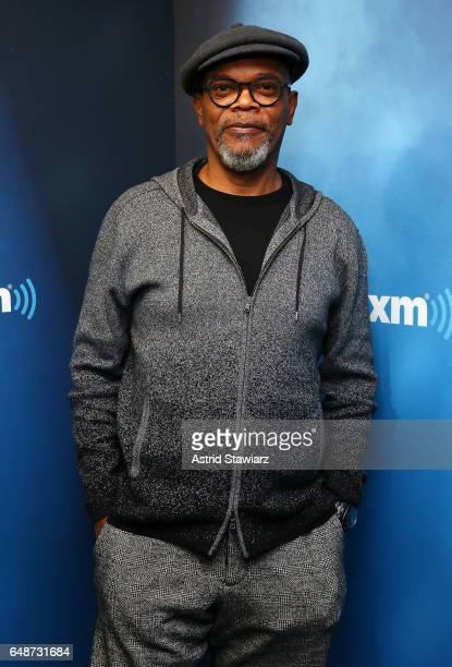 Actor Samuel L Jackson visits the SiriusXM Studios on March 6 2017 in New York City