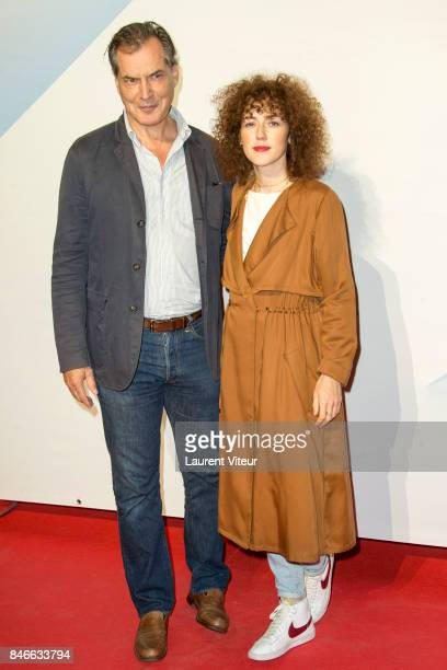 Actor Samuel Labarthe and Actress Blandine Bellavoir attends 19th Festival of TV Fiction Opening Ceremony on September 13 2017 in La Rochelle France