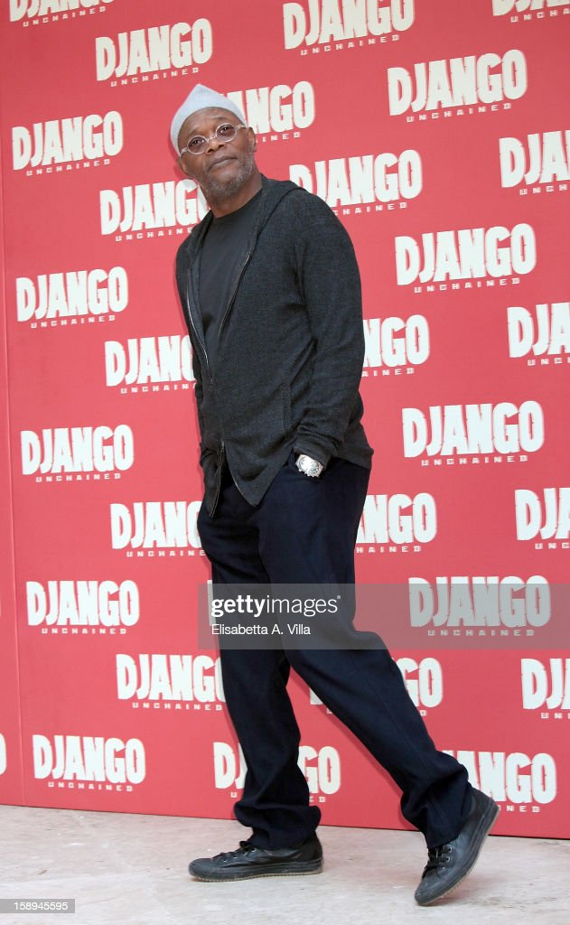 Actor Samuel Lee Jackson attends the 'Django Unchained' photocall at the Hassler Hotel on January 4, 2013 in Rome, Italy.