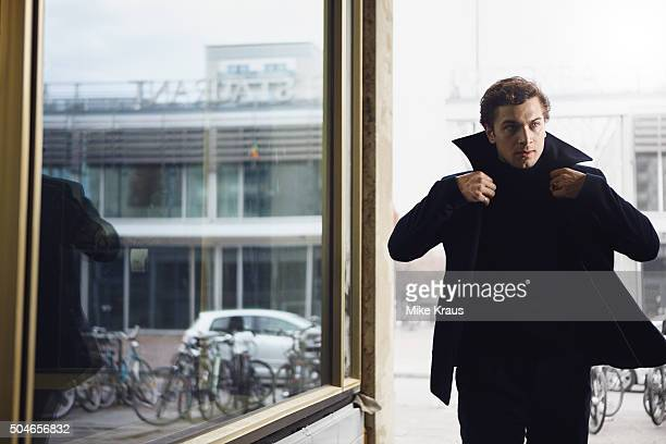 Actor Samuel Schneider is photographed for Self Assignment on November 15 2015 in Berlin Germany