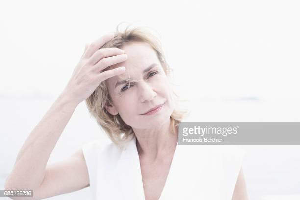 Actor Sandrine Bonnaire is photographed on May 18 2017 in Cannes at Majestic Beach France