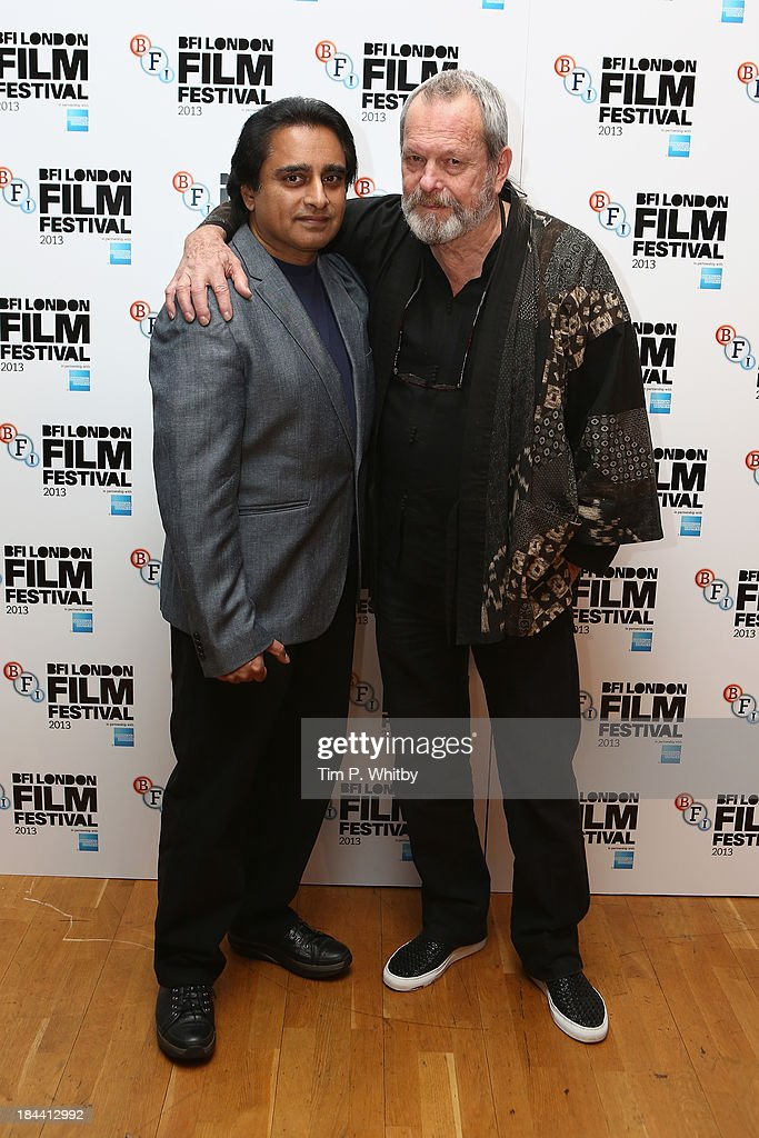Actor <a gi-track='captionPersonalityLinkClicked' href=/galleries/search?phrase=Sanjeev+Bhaskar&family=editorial&specificpeople=703950 ng-click='$event.stopPropagation()'>Sanjeev Bhaskar</a> (L) and director <a gi-track='captionPersonalityLinkClicked' href=/galleries/search?phrase=Terry+Gilliam&family=editorial&specificpeople=221636 ng-click='$event.stopPropagation()'>Terry Gilliam</a> attend a screening of 'Zero Theorem' during the 57th BFI London Film Festival at Odeon West End on October 13, 2013 in London, England.