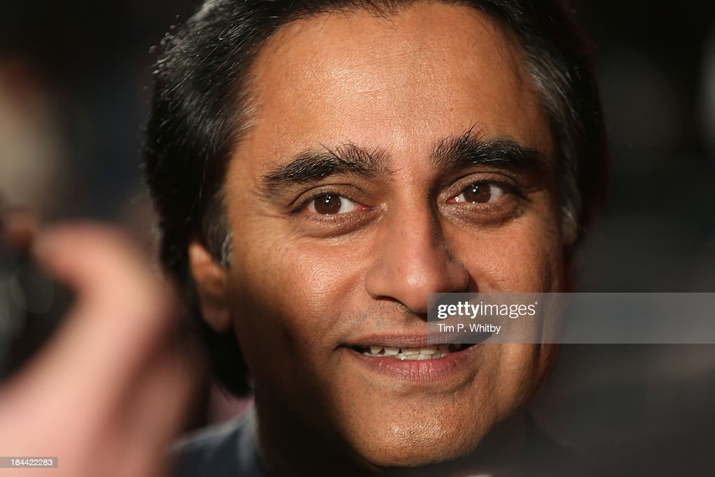 Actor Sanjeev Bhaskar attends a screening of 'Zero Theorem' during the 57th BFI London Film Festival at Odeon West End on October 13 2013 in London...