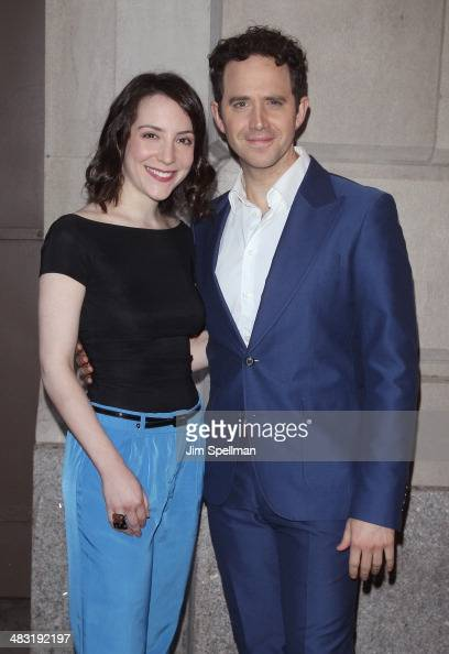 Actor Santino Fontana and guest attend the Broadway opening night of 'The Realistic Joneses' at The Lyceum Theater on April 6 2014 in New York City