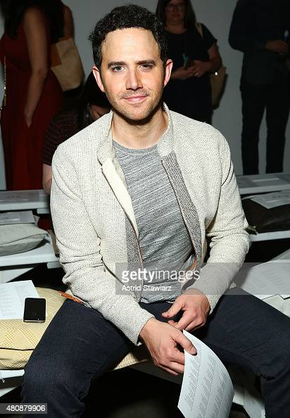 Actor Santino Fontana sits front row at Billy Reid New York Fashion Week Men's S/S 2016 at Art Beam on July 15 2015 in New York City