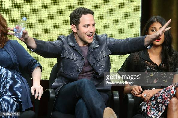Actor Santino Fontana speaks onstage during the 'Crazy ExGirlfriend' panel discussion at The CW portion of the 2015 Summer TCA Tour at The Beverly...