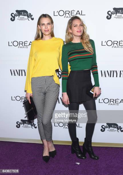 Actor Sara Foster and Erin Foster attend Vanity Fair and L'Oreal Paris Toast to Young Hollywood hosted by Dakota Johnson and Krista Smith at Delilah...