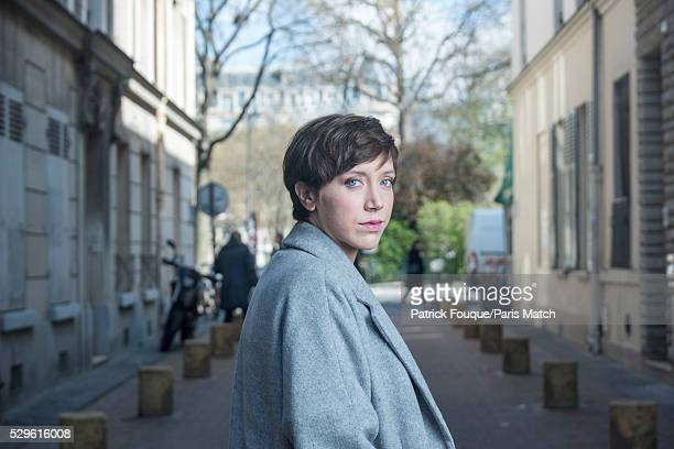Actor Sara Giraudeau is photographed for Paris Match on April 5 2016 in Paris France