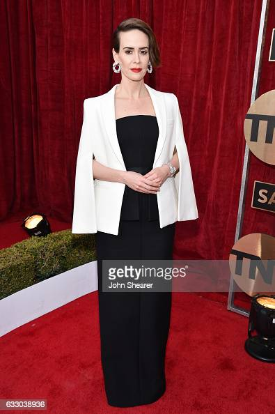 Actor Sarah Paulson attends The 23rd Annual Screen Actors Guild Awards at The Shrine Auditorium on January 29 2017 in Los Angeles California