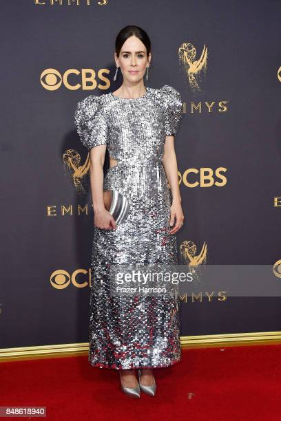Actor Sarah Paulson attends the 69th Annual Primetime Emmy Awards at Microsoft Theater on September 17 2017 in Los Angeles California