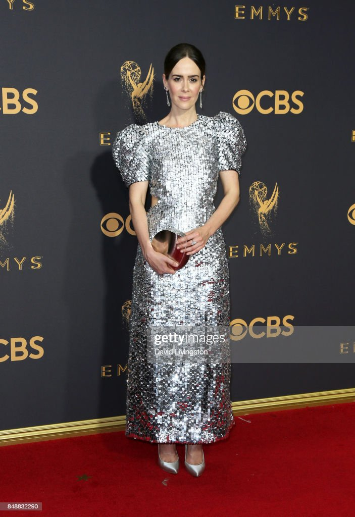 Actor Sarah Paulson attends the 69th Annual Primetime Emmy Awards - Arrivals at Microsoft Theater on September 17, 2017 in Los Angeles, California.