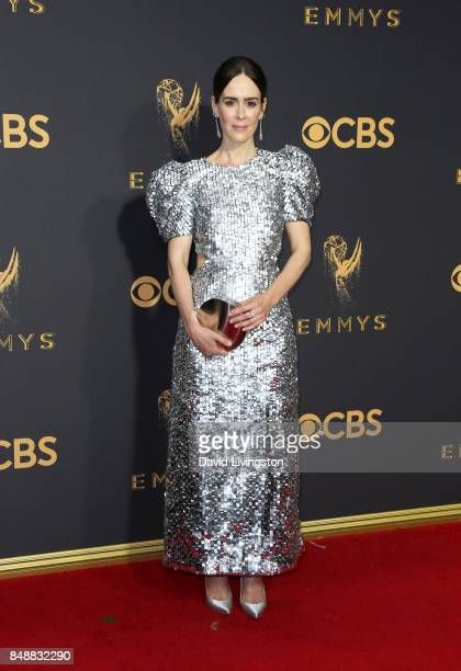 Actor Sarah Paulson attends the 69th Annual Primetime Emmy Awards Arrivals at Microsoft Theater on September 17 2017 in Los Angeles California