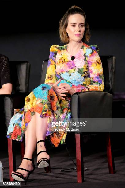 Actor Sarah Paulson of 'American Horror Story Cult' speaks onstage during the FX portion of the 2017 Summer Television Critics Association Press Tour...
