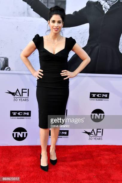 Actor Sarah Silverman arrives at the AFI Life Achievement Award Gala Tribute to Diane Keaton at Dolby Theatre on June 8 2017 in Hollywood California