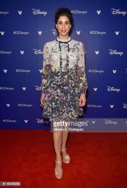 Actor Sarah Silverman of RALPH BREAKS THE INTERNET WRECKIT RALPH 2 took part today in the Walt Disney Studios animation presentation at Disney's D23...