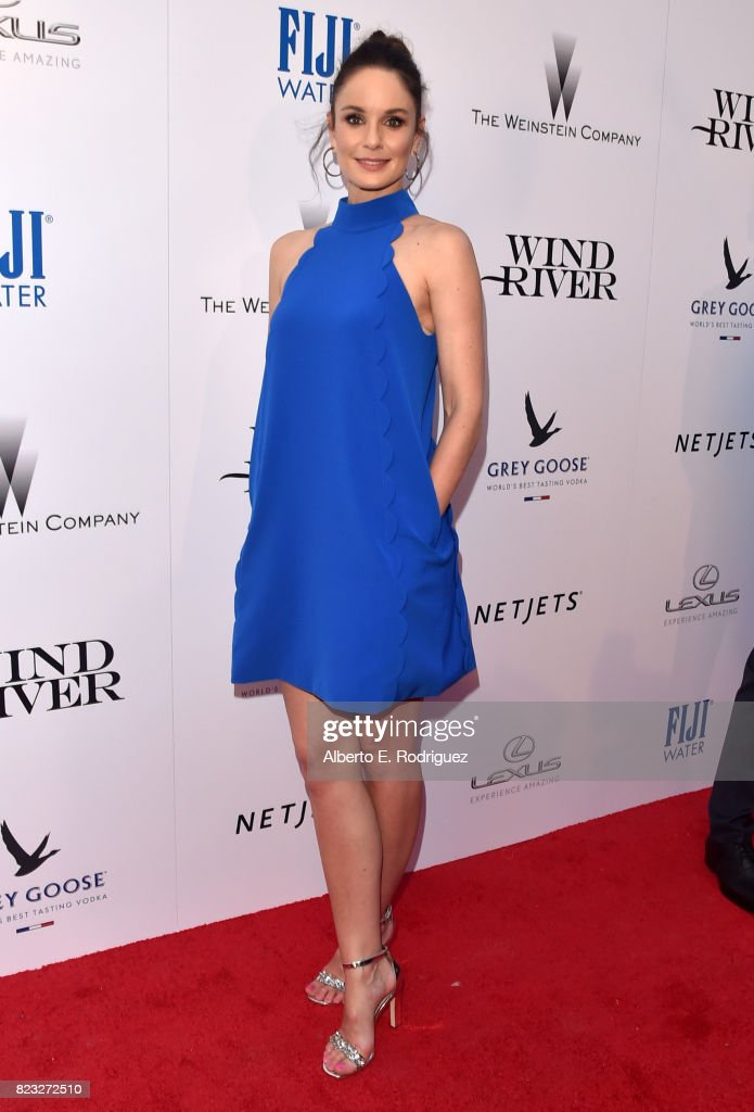 Actor Sarah Wayne Callies attends the premiere of The Weinstein Company's 'Wind River' at The Theatre at Ace Hotel on July 26, 2017 in Los Angeles, California.