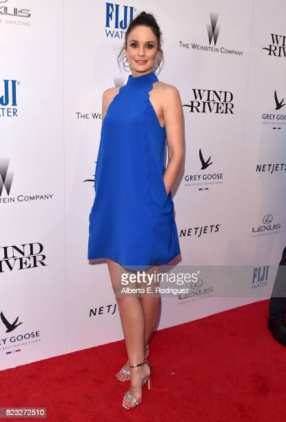 Actor Sarah Wayne Callies attends the premiere of The Weinstein Company's 'Wind River' at The Theatre at Ace Hotel on July 26 2017 in Los Angeles...