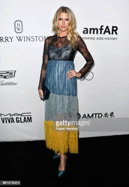 Actor Sarah Wright attends the amfAR Gala at Ron Burkle's Green Acres Estate on October 13 2017 in Beverly Hills California