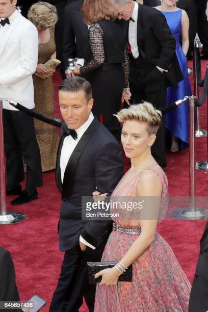 Actor Scarlett Johansson and guest attends the 89th Annual Academy Awards at Hollywood Highland Center on February 26 2017 in Hollywood California