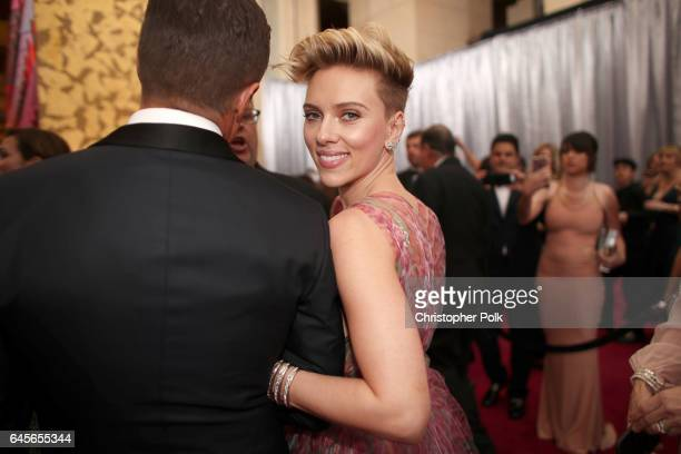 Actor Scarlett Johansson attends the 89th Annual Academy Awards at Hollywood Highland Center on February 26 2017 in Hollywood California