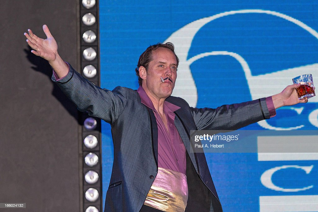 Actor Scot Robinson on stage during the Comedy for a Cure benefit held at Lure on April 7, 2013 in Hollywood, California.
