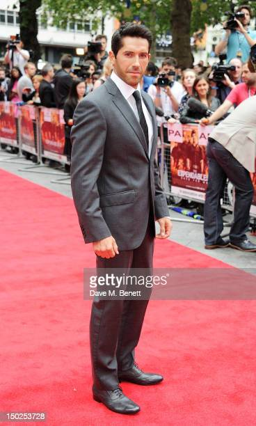 Actor Scott Adkins attends the UK Film Premiere of 'The Expendables 2' at Empire Leicester Square on August 13 2012 in London United Kingdom