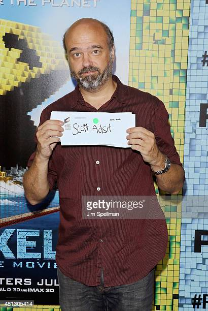 Actor Scott Adsit attends the 'Pixels' New York premiere at Regal EWalk on July 18 2015 in New York City