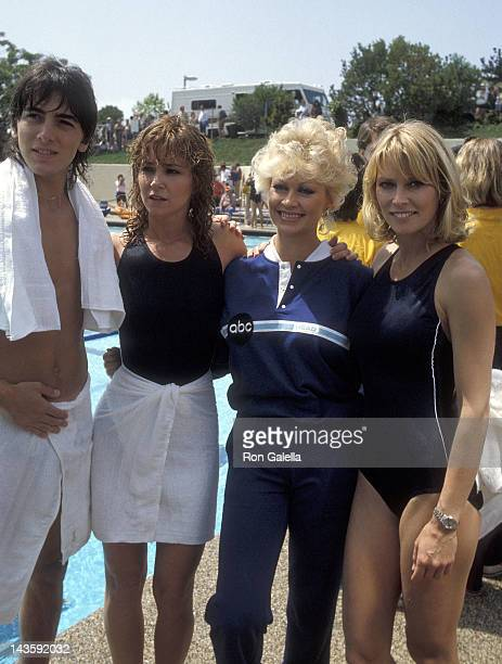 Actor Scott Baio actress Lisa Eilbacher actress Rachel Dennison and actress Randi Oakes the 'Battle of the Network Stars XIV' Television Competition...