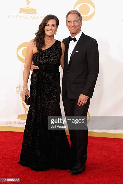 Actor Scott Bakula and guest arrive at the 65th Annual Primetime Emmy Awards held at Nokia Theatre LA Live on September 22 2013 in Los Angeles...