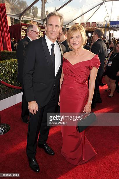 Actor Scott Bakula and Screen Actors Guild Awards Committee Chair JoBeth Williams attend 20th Annual Screen Actors Guild Awards at The Shrine...