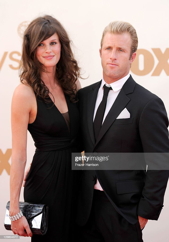 Actor <a gi-track='captionPersonalityLinkClicked' href=/galleries/search?phrase=Scott+Caan+-+Actor&family=editorial&specificpeople=227280 ng-click='$event.stopPropagation()'>Scott Caan</a> (R) and Kacy Byxbee arrive at the 63rd Annual Primetime Emmy Awards held at Nokia Theatre L.A. LIVE on September 18, 2011 in Los Angeles, California.