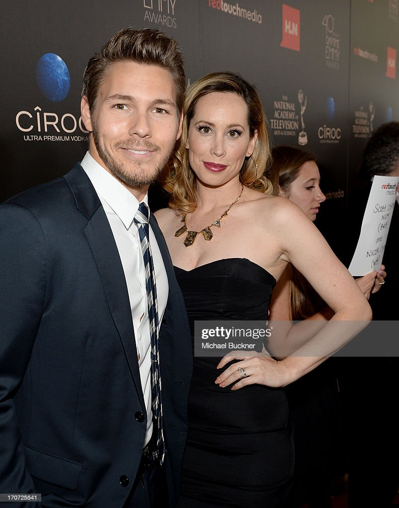 Actor <a gi-track='captionPersonalityLinkClicked' href=/galleries/search?phrase=Scott+Clifton&family=editorial&specificpeople=675202 ng-click='$event.stopPropagation()'>Scott Clifton</a> and Nicole Clifton attend the 40th Annual Daytime Emmy Awards at the Beverly Hilton Hotel on June 16, 2013 in Beverly Hills, California. 23774_001_0774.JPG