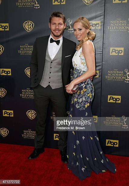 Actor Scott Clifton and Nicole Lampson attend The 42nd Annual Daytime Emmy Awards at Warner Bros Studios on April 26 2015 in Burbank California