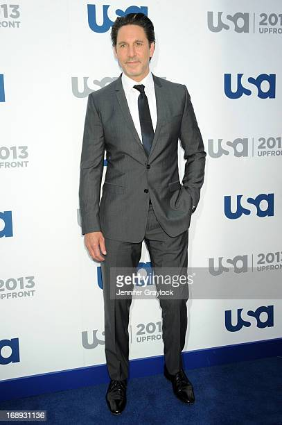 Actor Scott Cohen attends the USA Network 2013 Upfront event at Pier 36 on May 16 2013 in New York City