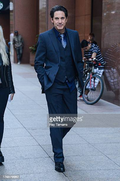 Actor Scott Cohen enters the 'Carrie Diaries' movie set in Midtown Manhattan on August 15 2013 in New York City